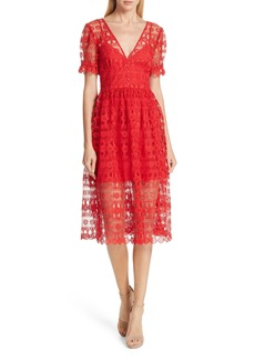 Self Portrait Self-Portrait Lace Midi Dress