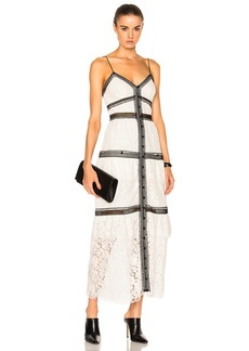 Self Portrait self-portrait Lace Trim Maxi Dress