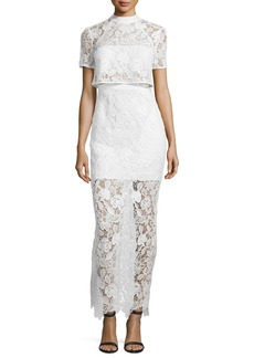 Marcela Guipure Lace Short-Sleeve Bridal Gown