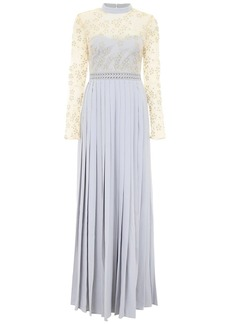 Self Portrait self-portrait Maxi Dress With Lace And Pearls