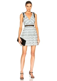 Self Portrait self-portrait Metallic Mesh Mini Dress