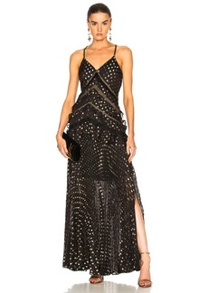 Self Portrait self-portrait Metallic Polka Dot Maxi Dress