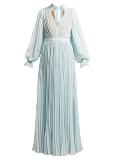 Self Portrait Self-portrait Pleated chiffon maxi dress