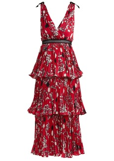 Self Portrait Self-portrait Pleated floral-print midi dress