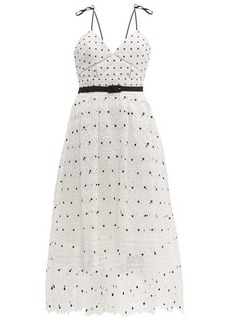 Self Portrait Self-portrait Polka-dot & floral lace midi dress