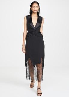 Self Portrait Sleeveless Tailored Dress