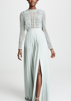 Self Portrait Spiral Lace Maxi Dress