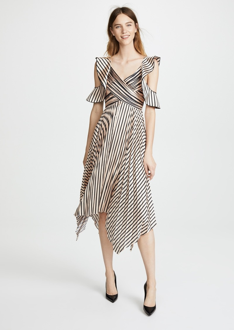 bff0c98d4864 On Sale today! Self Portrait Self Portrait Stripe Midi Dress