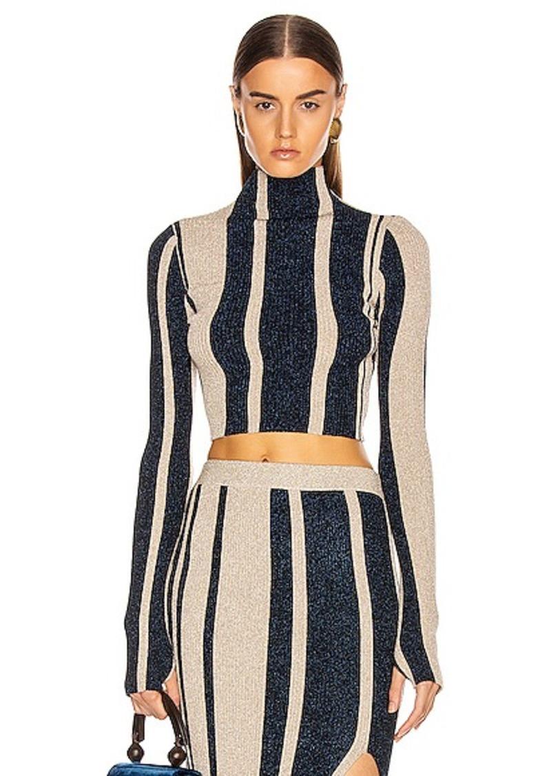 Self Portrait self-portrait Striped Crop Sweater