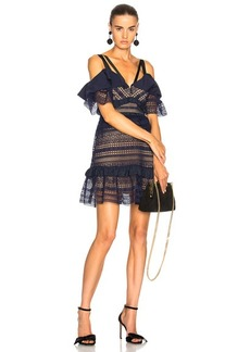 Self Portrait self-portrait Striped Paneled Lace Dress
