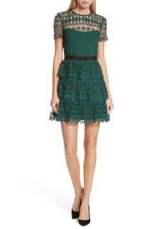 Self Portrait Self-Portrait Tiered Guipure Lace Minidress