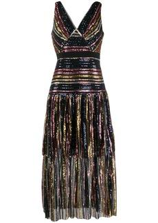 Self Portrait sequin embroidered midi dress