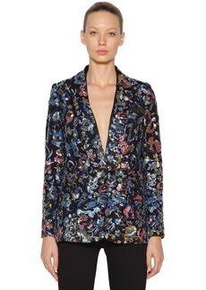 Self Portrait Sequined Floral Blazer Jacket