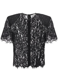 Self Portrait Sheer Cord Lace Top