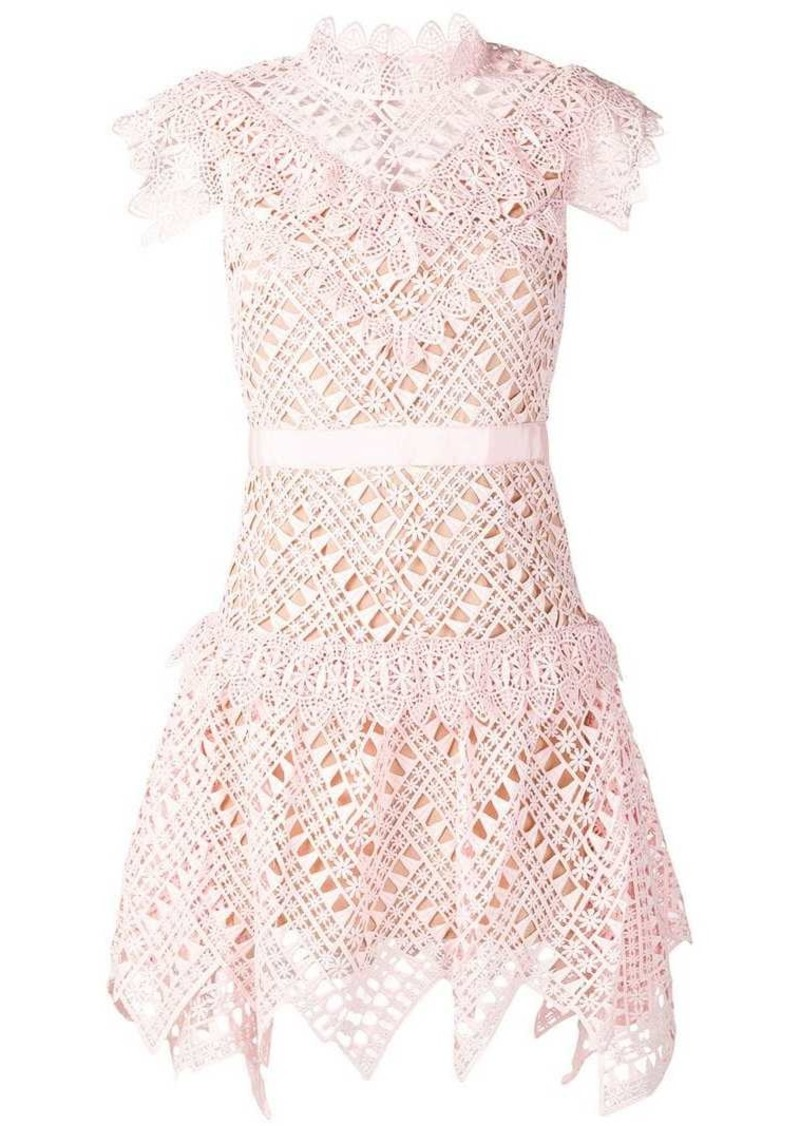 short lace detail dress