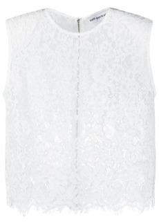 Self Portrait sleeveless cord lace blouse