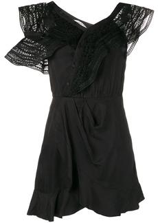 Self Portrait sleeveless embroidered dress