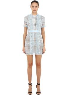 Self Portrait Spiral Lace Mini Dress