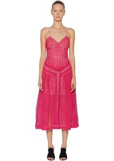 Self Portrait Spiral Lace Panel Dress