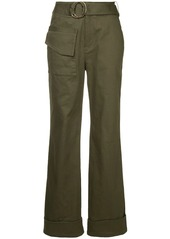 Self Portrait straight-fit belted trousers