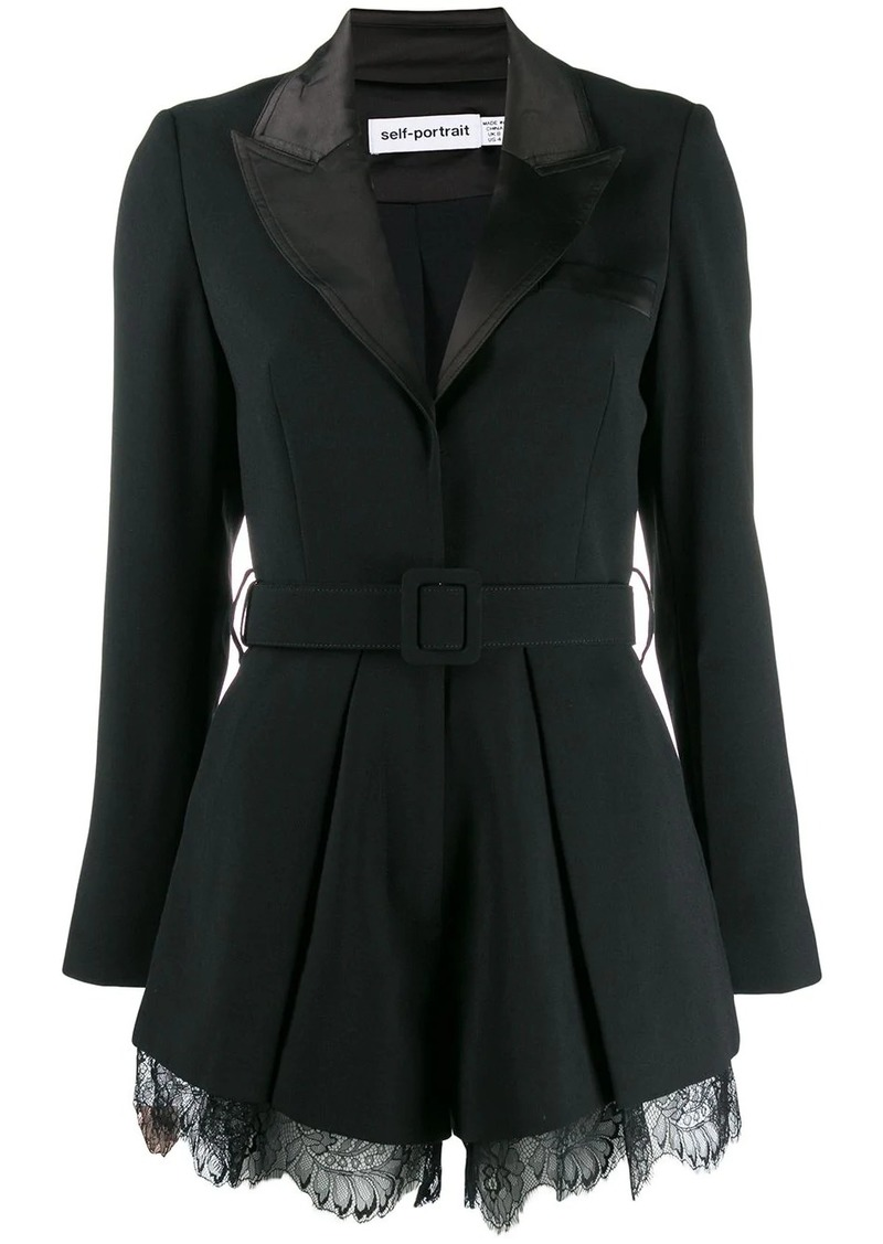 tailored crepe playsuit