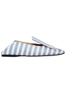 Sergio Rossi 10mm Sr1 Striped Cotton Loafers
