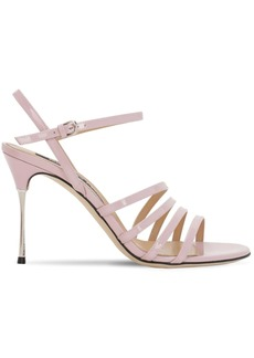 Sergio Rossi 90mm Godiva Still Patent Leather Sandals