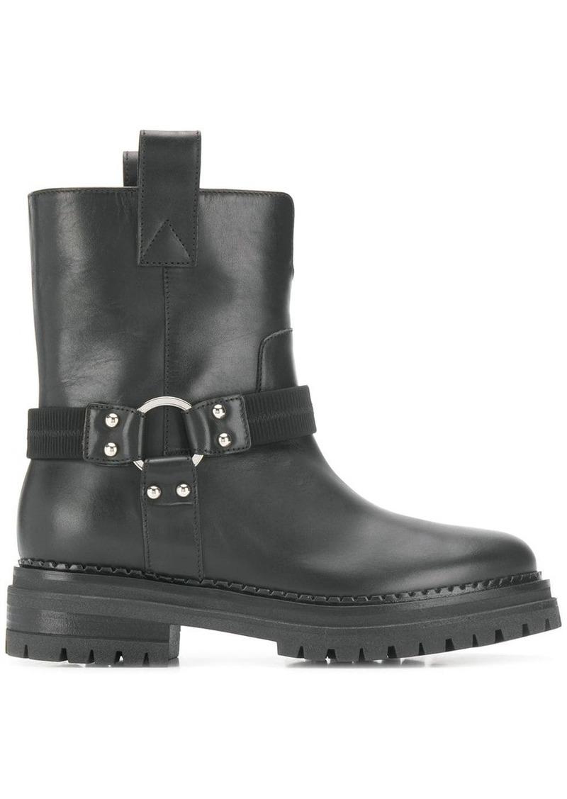 Sergio Rossi combat boots