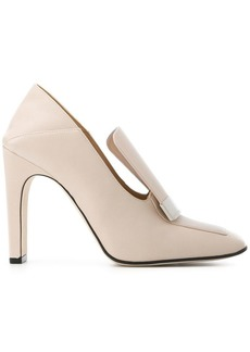 Sergio Rossi curved logo plaque pumps