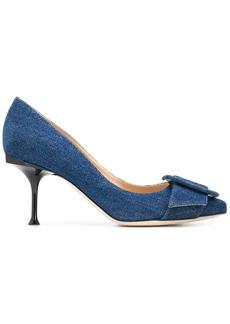 Sergio Rossi denim court shoes