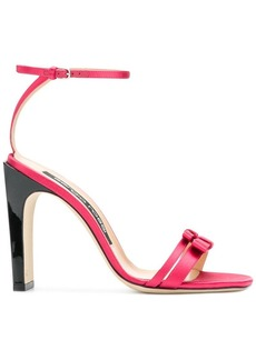 Sergio Rossi double bow strap sandals