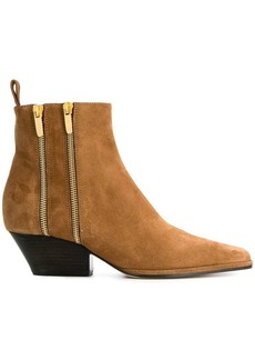 Sergio Rossi dual zip ankle boots