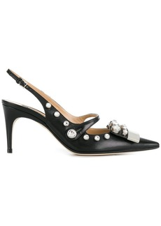 Sergio Rossi embellished sling-back pumps
