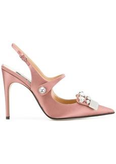 Sergio Rossi embellished slingback sandals