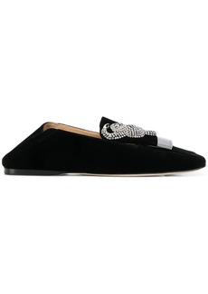Sergio Rossi embellished velvet loafers