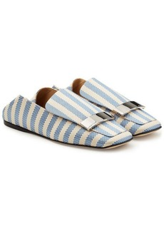 Sergio Rossi Fabric Loafers