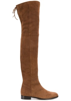 Sergio Rossi flat over the knee boots