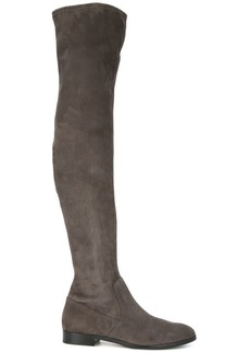 Sergio Rossi flat thigh high boots