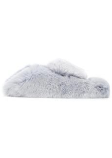 Sergio Rossi furry slippers