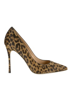 Sergio Rossi Godiva Haircalf Leopard Pumps