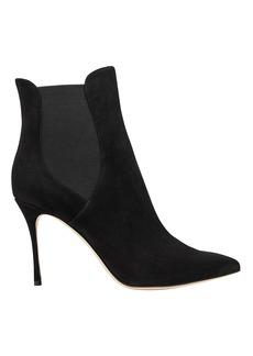 Sergio Rossi Godiva Suede Stiletto Ankle Boots