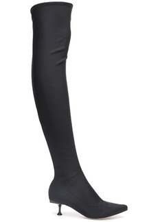 Sergio Rossi thigh high sock boots