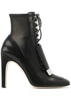 Sergio Rossi lace-up square-toe boots