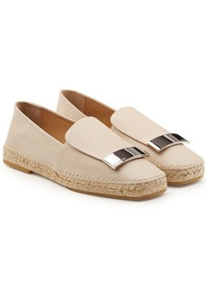 Sergio Rossi Leather Espadrilles