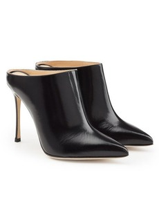 Sergio Rossi Leather Mule Heels