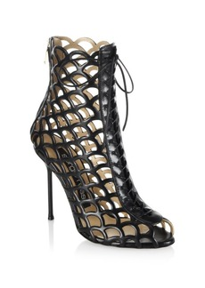 Sergio Rossi Mermaid Lace-Up Booties