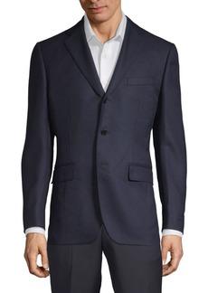 Sergio Rossi Notch Lapel Wool Jacket