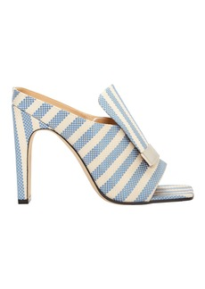 Sergio Rossi Portofino Striped Sandals