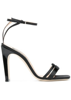 Sergio Rossi satin ankle strap high heeled sandal