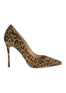 Sergio Rossi Godiva Haircalf Leopard Pumps